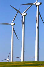 The Condon wind farm located near the town of Condon in central Oregon, USA.