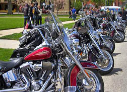 Motorcycle rally to create driver safety awareness in Boise, Idaho, USA.