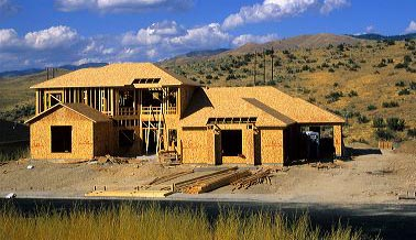 New home construction in Boise, Idaho.