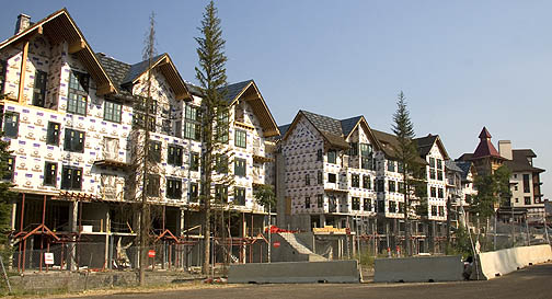 Ghost town of unfinished luxury development at Tamarack.