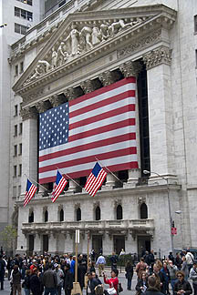 NYSE as Congress passed the Bailout Bill.