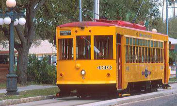 NOVELTY TROLLEY RIDE IN TAMPA, FLORIDA