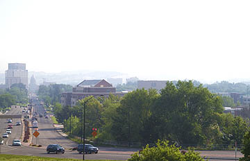 Tuesday morning had Boise smothered in smoke and ash from the fire.