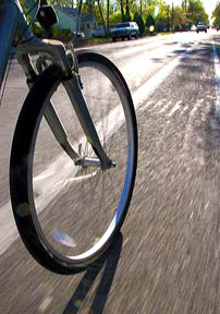 Bicycle tire in motion, Boise, Idaho. bicycle, tire, bicycle tire, motion, movement, bike, recreation, ride, bike ride, street