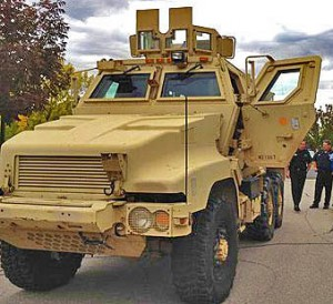 Boise PDs MRAP has been used once on a bomb call since they got it from the Army.