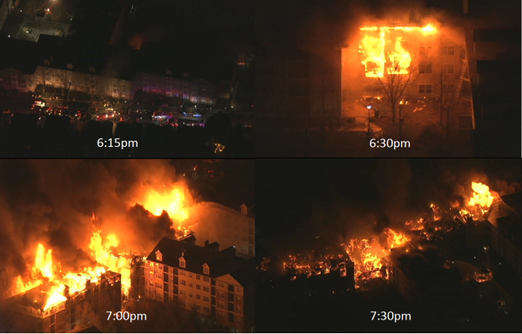 JERSEY FIRE SPREAD RAPIDLY IN SIMILARLY CONSTRUCTED COMPLEX