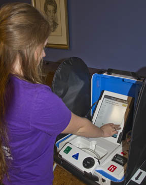 New touch screen electronic terminal creates and prints your ballot.