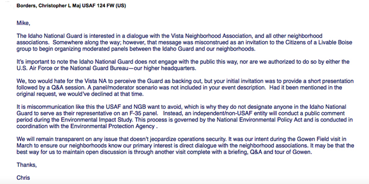 Boise guardian guard and boi snub vista neighborhood letter from major borders declining to join panel stopboris Images